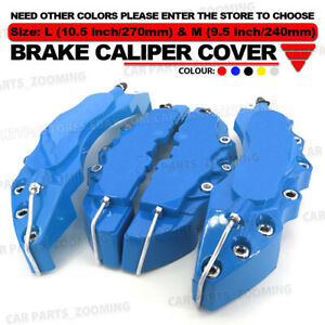 3d Universal Style Disc Brake Caliper Cover Front And Rear 4 Pcs Blud 10 5 Wl01