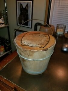 Vintage Wood Whole Strawberries Bucket Longinos Collins New Orleans