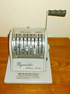 Paymaster Ribbon Writer Series 8000 Vintage Check Writer Works