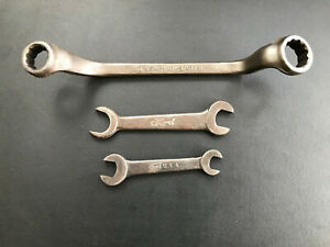 Vintage Ford Model T Model A Script Tools 1 Box And 2 Open End Wrenches