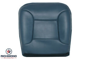 1992 1996 Ford Bronco Driver Side Bottom Perforated Leather Seat Cover Blue