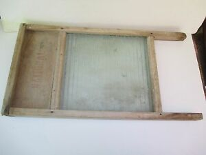 Vintage National Washboard Co No 512 Victory Glass And Wood 24 3 4 X 12 1 4
