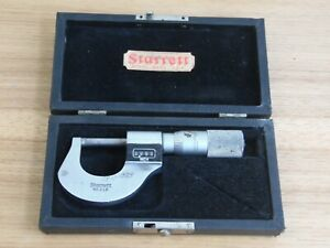 Used Starret No 216 0 1 Micrometer Numeral Read Out