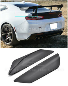 For 16 Up Chevrolet Camaro Zl1 1le Style Rear Trunk Spoiler Side Winglets Pair