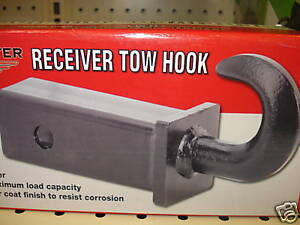 Hitch Tow Hook For 2 Receiver 10 000 Lb Capacity