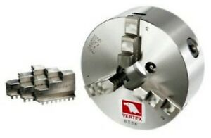 Accura vertex Artc 008 3 Jaw 6 Chuck With Backplate For 8 Rotary Tables