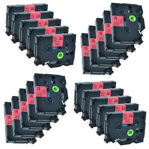 20 Black On Red Label Tape For Brother Tze 431 Tz 431 Pt 2030ad P touch 12mm 8m