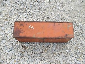 Allis Chalmers Wd 45 Wd45 45 Tractor Ac Fender Mount Tool Box W lid