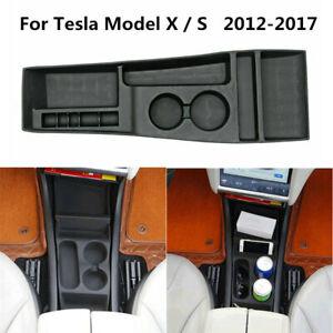 Silicone Front Center Console Storage Box Cup Holder For Tesla Model X S 12 17