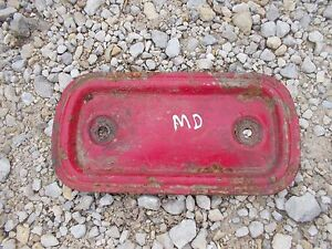 Farmall Md M Diesel Tractor Ih Ihc Engine Motor Side Cover Panel