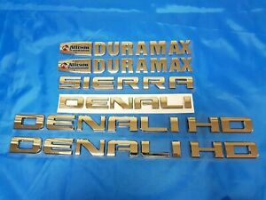 6pcs 11 19 Chrome Gmc Sierra Denali Duramax 2500hd 3500hd Badges Emblem Letters
