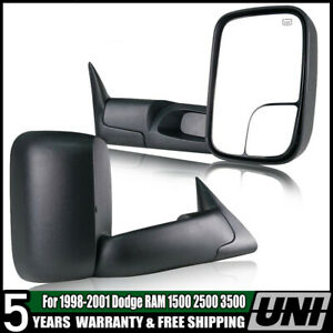 For 1998 2001 Dodge Ram 1500 2500 3500 Power heated Tow Mirrors Left right Pair