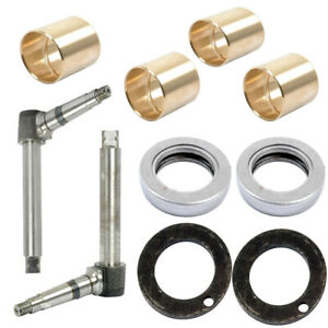 Front Axle Steering Spindle Kit And Bushings For Allis Chalmers 5040