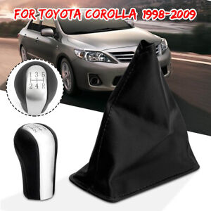 Gear Stick Shift Knob 5 Speed Gaiter Boot Cover For Toyota Corolla 1998 2009