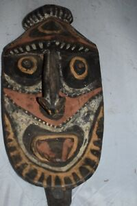 Orig 299 Papua New Guinea Yena Mask Hardwood 1900s 24 M Simpson Estate