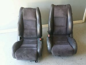 Mazda Cosmo Jc Sport Suede Leather Rare Front Seats 20b Free Shipping
