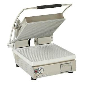 Star Pgt14 Commercial Panini Press W Aluminum Grooved Plates 120v