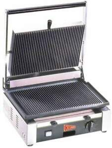 Cecilware Tsg1g Commercial Panini Press W Cast Iron Grooved Plates 110v