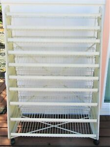 Store Rolling White Metal Candy Gum Display Wire 10 Tier Shelf Rack 4 9 T