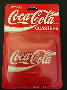 Coca Cola Coasters Set Of 6 - Red Square