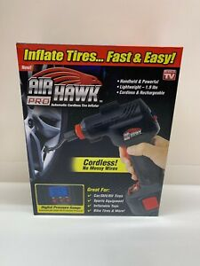 New Air Hawk Pro Automatic Cordless Tire Inflator As Seen On T V Niob