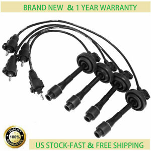 4x 5mm Spark Plug Wires For Toyota Corolla Chevrolet Chevy Prizm 09419 671 416