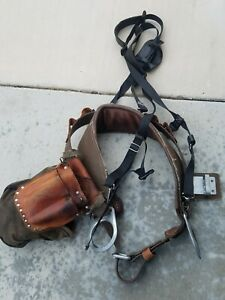 Buckingham Pole Climbing Belt suspenders Toolpouch Amp Bags Size 30 Pre owned