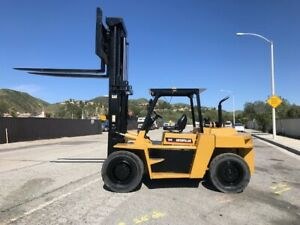 Cat Dp 90 Forklift 20 000 Lbs Load Capacity Original1144 Hours Since New Ex City