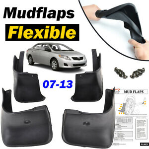 Front Rear Mud Flaps Fit For Toyota Corolla 2007 2013 Splash Guards Fender 2009