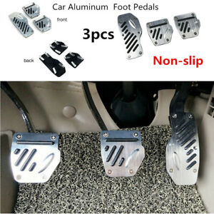 3x Car Non slip Accelerator Pedal Foot Pedals Pad Cover Safety For Brake Clutch