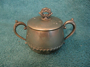 Silver Plated Ornate Sugar Bowl Item S156