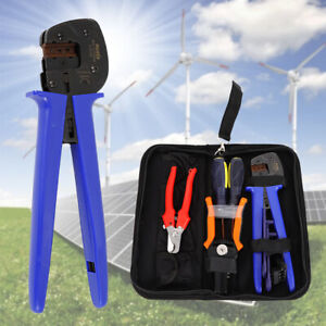 For Solar Crimping Pliers Tool Wire Stripper Cable Crimper Kit Usa Stock