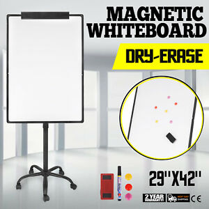 29 x42 Single Side Magnetic Whiteboard portable Adjustable Move Metal Stand