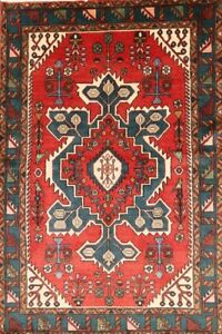 Excellent Geometric Red 4x7 Wool Persian Malayer Area Rug Oriental 6 8 X 4 5