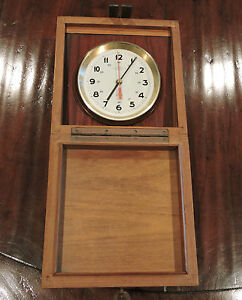 Vintage Wempe Chronometer Werke Hamburg Marine Clock Ship Quartz Clock 2444