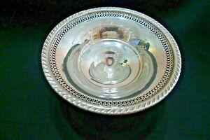Vintage Sterling Silver Pierced Footed Candy Dish Hamilton 1950