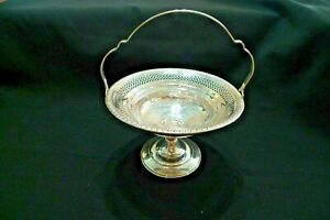 Vintage Heavy Sterling Silver Pierced Footed Candy Dish