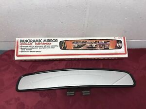 Vintage Giant Panoramic Rear View Mirror Convex