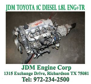 Toyota 1c Engine Diesel 1 8 Liter Engine Automatic Transmission 1c Engine Trans