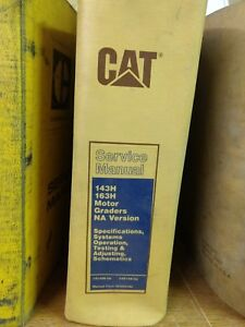 Cat Caterpillar 143h 163h Motor Grader Specifications Systems Service Ma