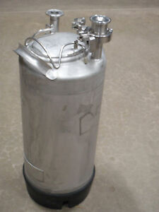 Alloy Products 140 Psi 316 Stainless Steel Dipensing Vessel 20 Liters