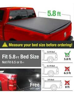 High Quality Black Roll Up Tonneau Cover For 2009 2018 Dodge Ram 1500 5 8ft Bed