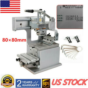 80 80mm Single color Manual Pad Printing Machine Up To 500 Pcs h Sealed Ink Cup