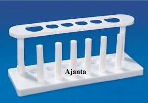 Test Tube Stand Autoclavable Laboratory Use 6 Place Rack 2 Column Polypropylene