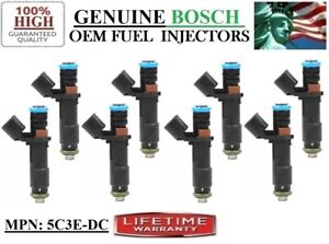 Set 8 Fuel Injector For 2005 2007 Ford F 150 5 4l Oem Bosch Part 5c3e Dc