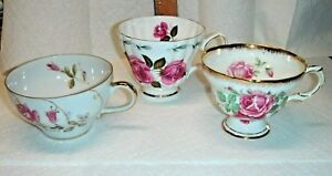 Vtg Romantic French Country Shabby Cottage Royal Rosina Arco Tea Cup Saucer Lot