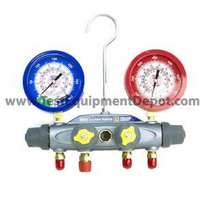 Yellow Jacket 46001 Manifold Only Liquid Gauges Bar psi R 410a