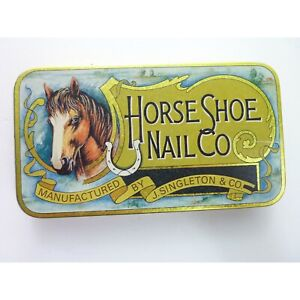 Metal Box Horse Show Nail Co Replica