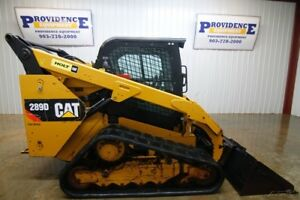 2014 Cat 289d Cab Track Loader Skid Steer 2 speed 73 Hp