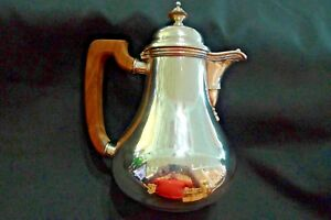 Vintage Hand Made Heavy Sterling Silver Teapot Mexico Hallmarked